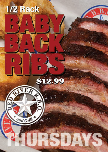 1/2 Rack of Baby Back Ribs - $12.99